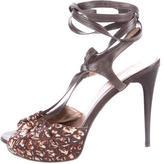 Just Cavalli Lace-Up Platform Sandals