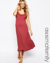 Asos Midi Cami Dress With Frill