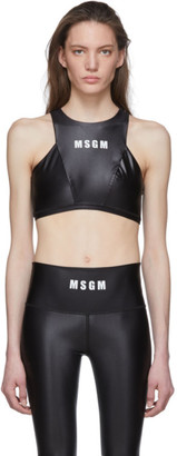 MSGM Black Logo Sports Bra