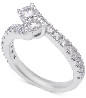 Two Souls, One Love Diamond Two-Stone Engagement Ring (1-1/5 ct. t.w.) in 14k White Gold