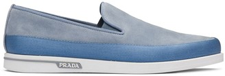 Prada Suede Slip-On Sneakers