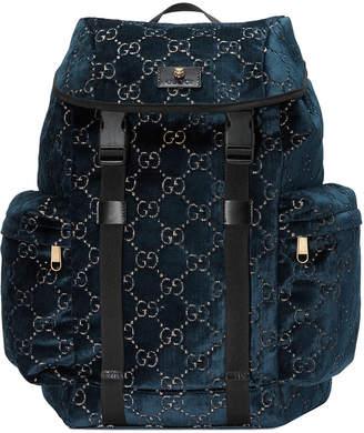 Gucci Men's GG Velvet Backpack