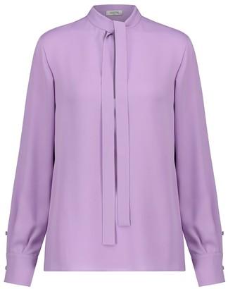 Valentino tie-neck silk blouse