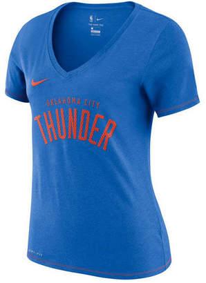 Nike Women Oklahoma City Thunder Dri-Fit V-neck T-Shirt