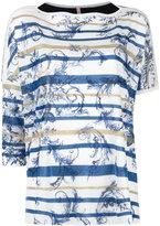 Antonio Marras leaf print top - women - Cotton/Polyester/Viscose/Metallized Polyester - L