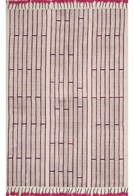 Bungalow Rose Romanowski Handwoven Flatweave Cotton Pink Area Rug Rug Size: Rectangle 5' x 8'