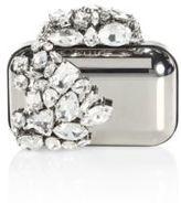 Jimmy Choo Cloud Crystal-Embellished Metallic Clutch