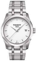 Tissot T0352101101100 Women's Couturier Date Bracelet Strap Watch, Silver/White