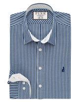 Thomas Pink Davy Stripe Slim Fit Button Cuff Shirt