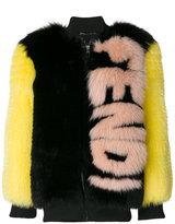 Fendi - teddy oversize à logo
