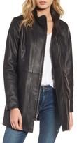 Cole Haan Women's Leather Car Coat