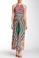 London Times Keyhole Halter Maxi Dress (Petite)