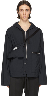 Maison Margiela Black Recycled Nylon Sports Jacket