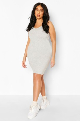 boohoo Plus Strappy Basic Bodycon Dress