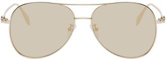 Alexander McQueen Gold Pilot Sunglasses