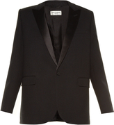 Saint Laurent Le Smoking single-breasted crepe blazer