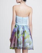 Aidan Mattox Belted Strapless Dress