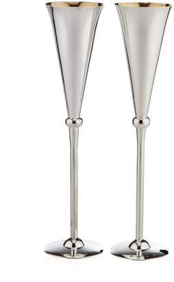 Carrs of Sheffield Silver Set of 2 Sterling Silver Champagne Flutes (30cm)