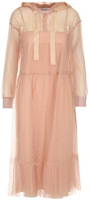RED Valentino Hooded Sheer Dress