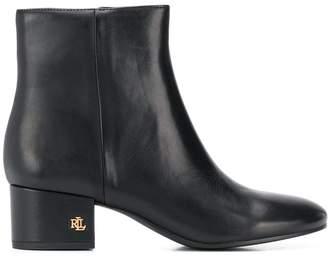 Lauren Ralph Lauren side zip ankle boots