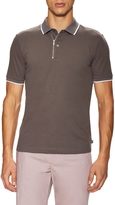 Armani Collezioni Men's Spread Collar Cotton Polo Shirt