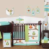 JoJo Designs Sweet Hooty 11-Piece Crib Bedding Set in Turquoise/Lime