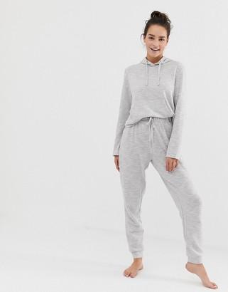 Asos Design DESIGN lounge hoodie & jogger set-Grey
