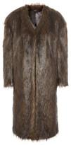 Topshop Women's Longline Faux Fur Coat