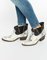 Free People Dorado White Snake Effect Ankle Boots