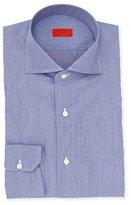 Isaia Chambray Cotton Dress Shirt