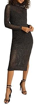 Reiss Antonella Mesh Knit Dress