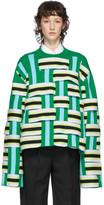 Namacheko Green and Blue Masivie Sweatshirt