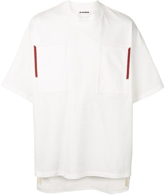 Jil Sander box patch T-shirt