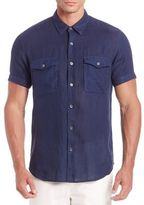 Theory Rilo Washed Short Sleeve Shirt