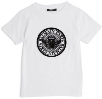 Balmain Kids Medallion Logo T-Shirt (4-16 Years)