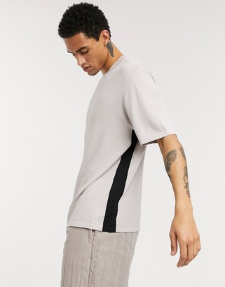 ASOS boxy knitted T shirt with side stripe