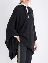 Brunello Cucinelli Cashmere and silk-blend poncho