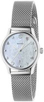 Gucci Watch G-timeless Watch Case 27 Mm In Milanese Mesh With Mother-of-pearl Dial
