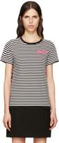 Marc Jacobs Black Printed Patchwork T-Shirt