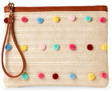 Imoshion Natural & Cognac Pom-Pom Straw Pouch
