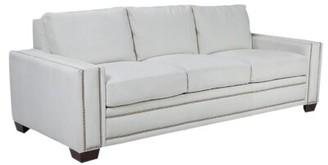 Omnia Leather Ashton Leather Sofa Bed Omnia Leather Body Fabric: Urban Cherry, Leg Color: Cherry, Nailhead Detail: Medium Brass Touching