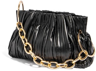 House of Want Chill Framed Clutch In Black Pleated