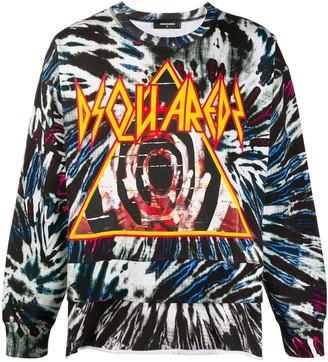 DSQUARED2 Tie-Dye Print Sweatshirt