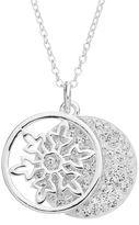 "Disney Disney's Frozen Crystal ""Let it Go"" Layered Disc Pendant Necklace"