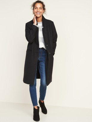 Old Navy Relaxed Soft-Brushed Long-Line Coat for Women