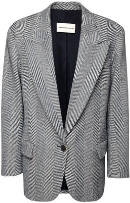 Alexandre Vauthier Oversized Wool Herringbone Blazer