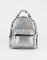 VIOLET RAY Iza Metallic Mini Backpack