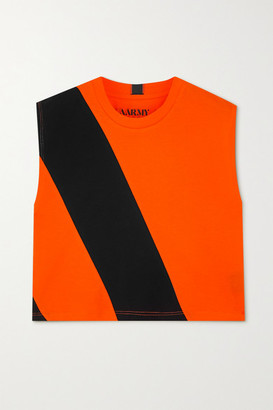AARMY - Lima Printed Cotton-jersey Tank - Orange