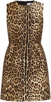 RED Valentino Leopard-jacquard dress