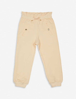 Chloé Logo-print Cotton jogging bottoms 3-36 months